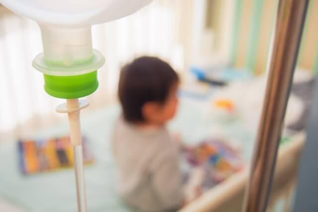 入院する赤ちゃん