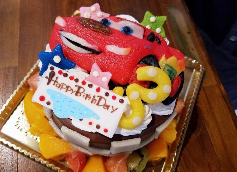 カーズのキャラクターケーキ